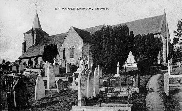 St Annes Lewes (Postcard)