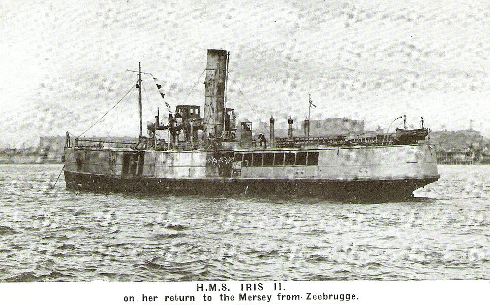 HMS Iris - Returning to Liverpool after Zeebrugge Raid